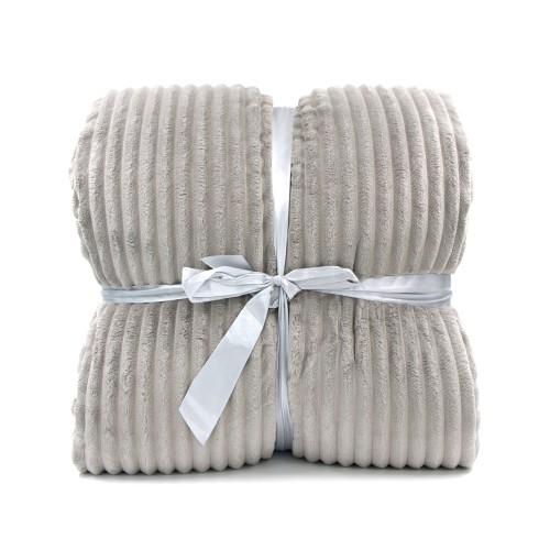 Κουβέρτα Προβατάκι δύο όψεων, Υπέρδιπλη 220Χ240, Γκρί, Blanket-008