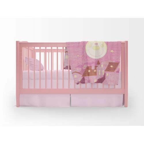 Παιδική Κουβέρτα 110Χ140, Ρόζ, Blanket-055