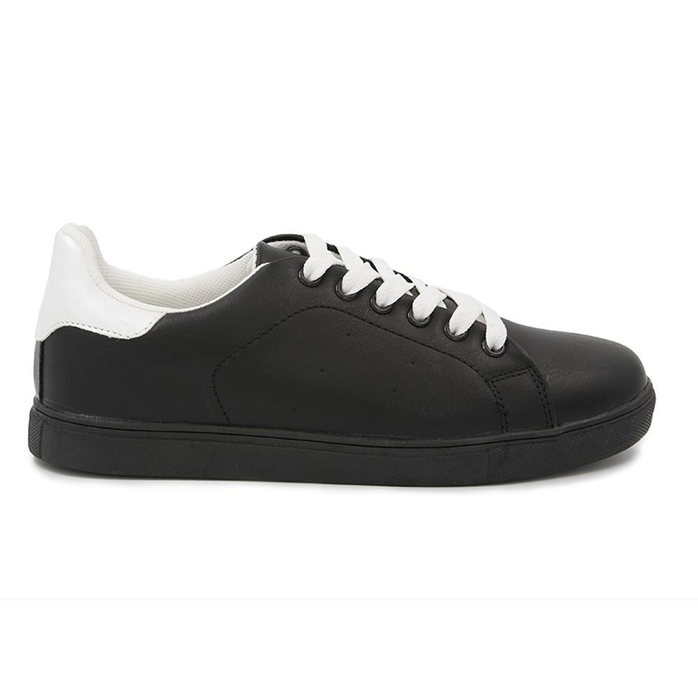 Γυναικείο Sneakers Παπούτσι, Μαύρο-Λευκό, SN-004