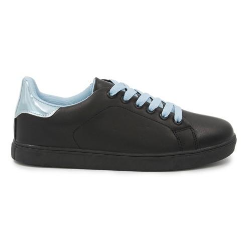 Γυναικείο Sneakers Παπούτσι, Μαύρο-Μπλέ, SN-001